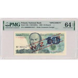 10 złotych 1982 - WZÓR - A 0000000 - No.0241