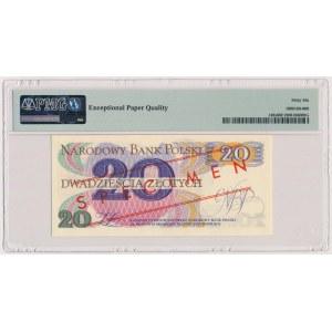 20 złotych 1982 - WZÓR - A 0000000 - No.0203