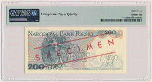 200 złotych 1982 - WZÓR - BU 0000000 - No.0142