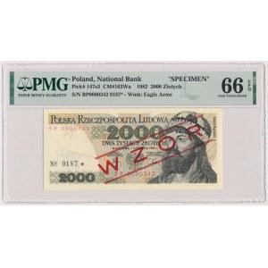 2.000 złotych 1982 - WZÓR - BP 0000000 - No.0187