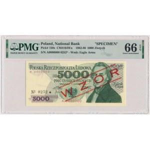 5.000 złotych 1982 - WZÓR - A 0000000 - No.0252
