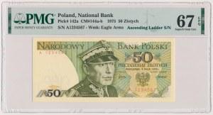 50 złotych 1975 - numer kolejny - A 1234567