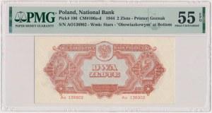2 złote 1944 ...owym - Ao