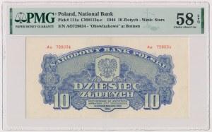 10 złotych 1944 ...owe - Ao