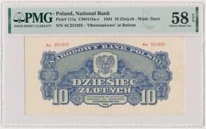 10 złotych 1944 ...owe - Ac