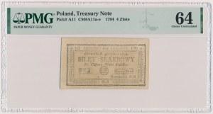 4 złote 1794 - (2)(B)
