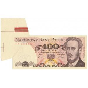 DESTRUKT 100 złotych 1979 - błąd cięcia motylek