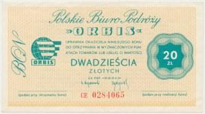 Polskie Biuro Podróży ORBIS, Bon 20 złotych - CE