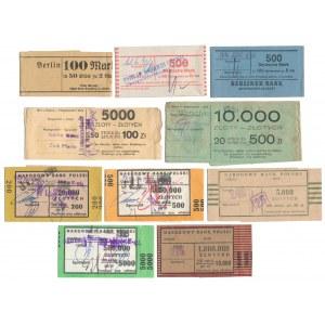 Banderole od banknotów polskich i niemieckich (10szt)
