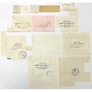 Zestaw różnych kartek zaopatrzeniowych, głównie PRL (13szt)