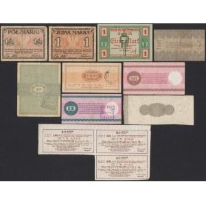 Zestaw (10szt) - Polska, banknoty lokalne, centy PKO itp.