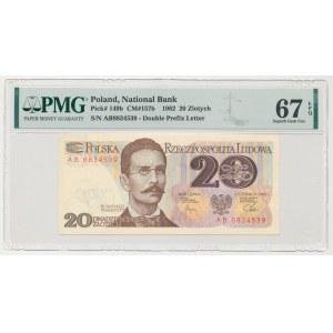 20 złotych 1982 - AB