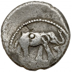 Republika, Juliusz Cezar (49-48 p.n.e.) Denar - Słoń