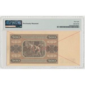 500 złotych 1948 - SPECIMEN - AA