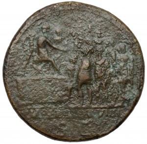 Trajan (98-117 n.e.) Sesterc, Rzym - RZADKOŚĆ
