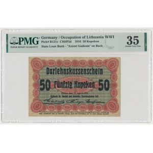 Poznań, 50 kopiejek 1916 ...nabywa, duża czcionka