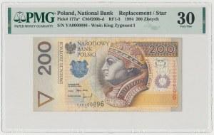200 złotych 1994 - YA - seria zastępcza