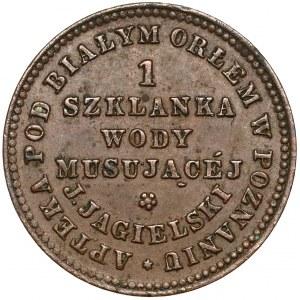 Poznań, Apteka pod Białym Orłem, Jagielski, 1 szklanka wody musującej (XIXw)