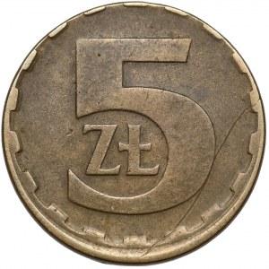 Destrukt 5 złotych 1984 - offcenter