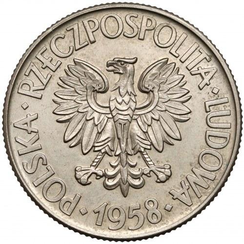 Próba MIEDZIONIKIEL 10 złotych 1958 Kościuszko - rzadkość