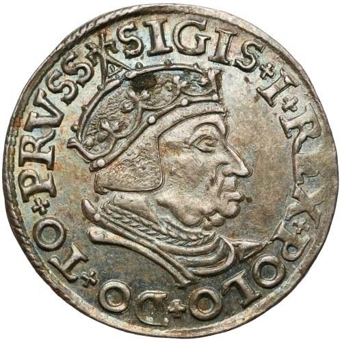 Zygmunt I Stary, Trojak Gdańsk 1538 - PIĘKNY