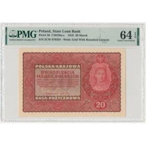 20 mkp 1919 - II Serja CW (Mił.26c)