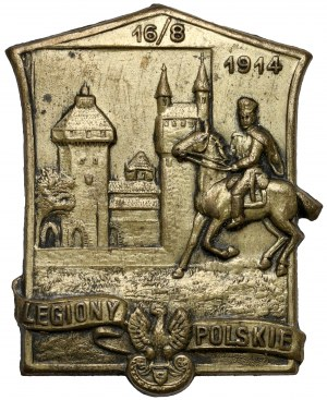 Plakietka, Legiony Polskie 1914