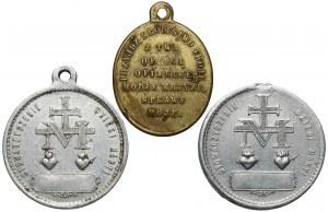 Medaliki religijne XIX/XX w., zestaw (3szt)