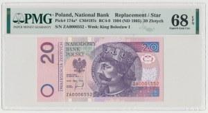 20 złotych 1994 - ZA - seria zastępcza