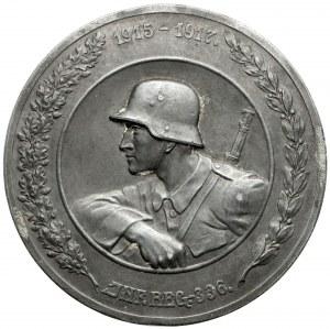 Medal, 1915-1917 Inf. Reg. 336. / Oberen Schtschara, Szerwetsch, Njemen, Beresowetz
