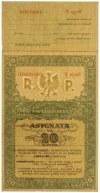 Asygnata Ministerstwa Skarbu (1939) - WZÓR 20 zł F 0000000