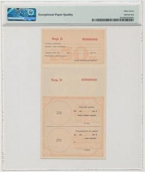 Asygnata Ministerstwa Skarbu (1939) - WZÓR 50 zł D 0000000