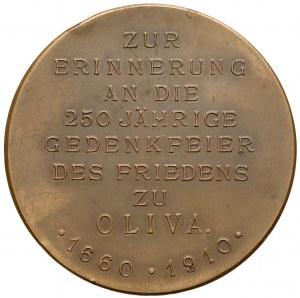 Medal, 250 rocznica pokoju w Oliwie 1910