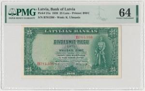 Łotwa, 25 Latu 1938