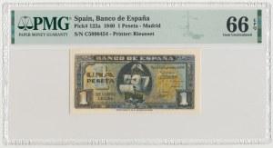 Spain, 1 Peseta 1940