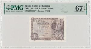 Hiszpania, 1 Peseta 1948
