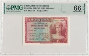 Spain, 10 Pesetas 1935