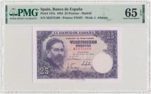 Spain, 25 Pesetas 1954