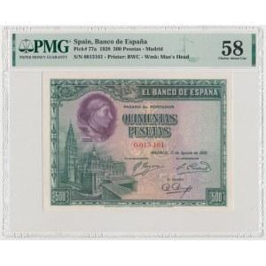 Spain, 500 Pesetas 1928