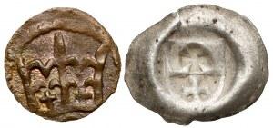 Denar i Brakteat - Kazimierz IV Jagiellończyk, (2szt)
