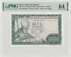 Spain, 1.000 Pesetas 1965