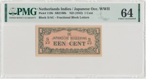 Netherlands Indies, Japanese Occupation WWII, 1 Cent (1942)