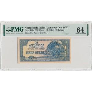 Netherlands Indies, Japanese Occupation WWII, 1/2 Gulden (1942)
