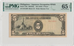 Philippines, Japanese Occupation WWII, 5 Pesos (1943)