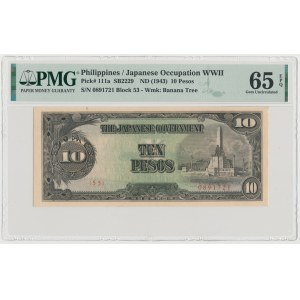 Philippines, Japanese Occupation WWII, 10 Pesos (1943)