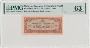 Malaya, Japanese Occupation WWII, 1 Cent (1942)