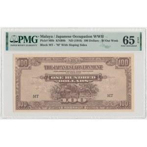 Malaya, Japanese Occupation WWII, 100 Dollars (1944)