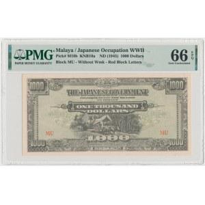 Malaya, Japanese Occupation WWII, 1.000 Dollars (1945)
