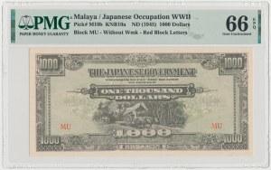 Malaje, Okupacja Japońska, 1.000 Dollars (1945)