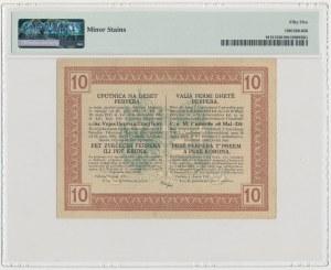 Montenegro, Austrian Occupation WWI, 10 Parper = 5 Munzparper = 5 Kronen 1917